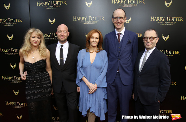 Sonia Friedman, John Tiffany, J.K. Rowling, Jack Thorne and Colin Callender