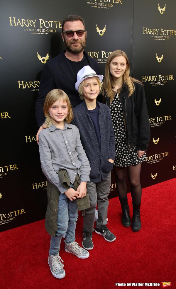 Liev Schreiber, Sasha Schreiber, Kai Schreiber and Spohie