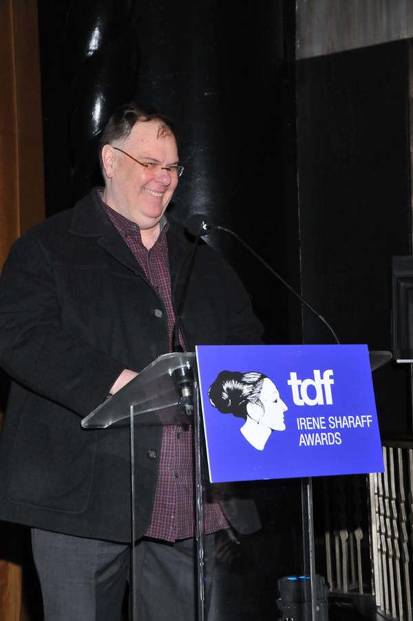 Gregg Barnes presenting to Fritz Masten