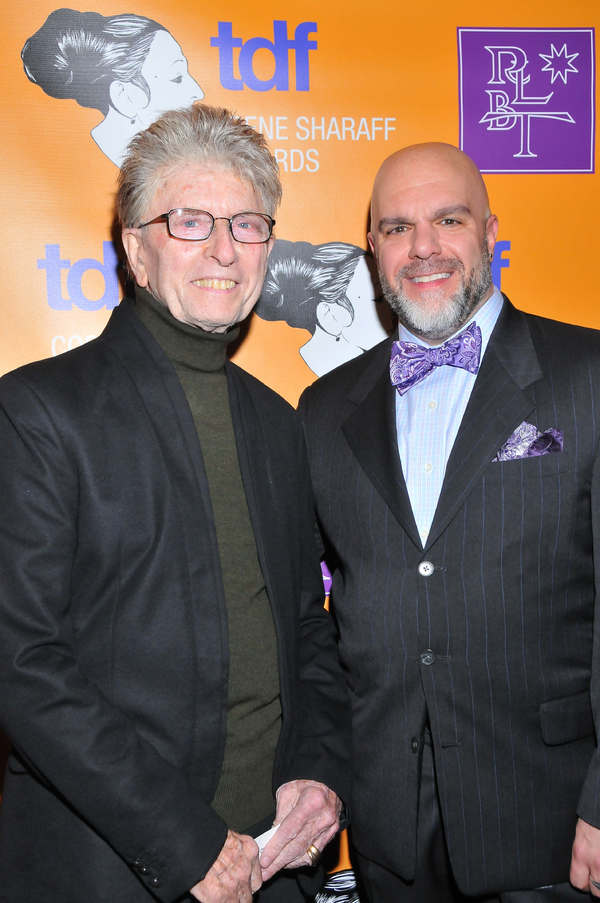 Wig designer Paul Huntley and TDF's Stephen Cabral Photo