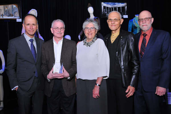 Robert L. B. Tobin Theatre Arts Fund's Robert Perdziola, award winner Zach Brown, Tobin's Linda Hardberger and Mel Weingart and award presenter Douglas Wager