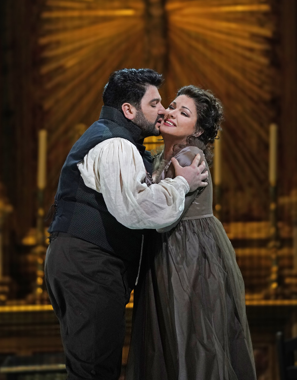 "Yusif Eyvazov as Cavaradossi and Anna Netrebko in the title role of Puccini's ""Tosca. Photo"