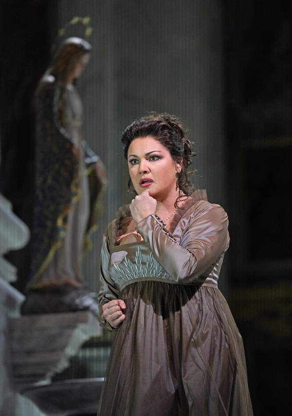 """Anna Netrebko in the title role of Puccini's """"Tosca."""" Photo: Ken Howard / Met Opera"""
