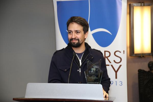 Photo Flash: Lin-Manuel Miranda Receives the 2018 Rosetta ... Rosetta Lenoire Award