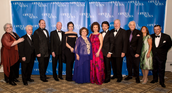 Stephanie  Blythe,  OPERA  NEWS  Editor  in  Chief  F.  Paul  Driscoll,  presenter  Quinn  Kelsey,  honoree  William  Christie,  honoree  Sonya  Yoncheva,  honoree  Fiorenza  Cossotto,  honoree  Hei-Kyung  Hong,  honoree  Vittorio  Grigolo,  presenter  Ja