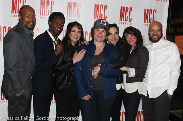 Jackson Gay, Lucy Thurber and the cast of TRANSFERS