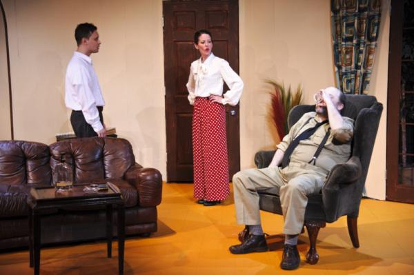 Christopher Lapinski, Melissa Rittmann as Ms. Eve Montaigne, and Jack Bathke