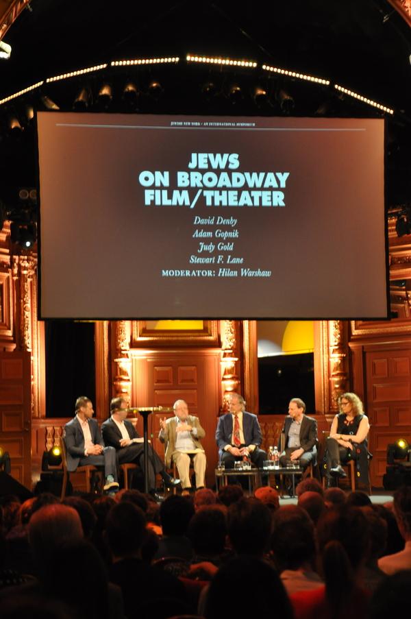 Jews on Broadway Panel_ Jody Rosen, Hilan Warhsaw, David Denby, Stewart F. Lane, Adam Gopnik, Judy Gold