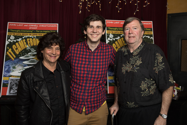Composer Stephen M. Schwartz, Musical Director Austin Nuckols and Book Writer Cornell Photo