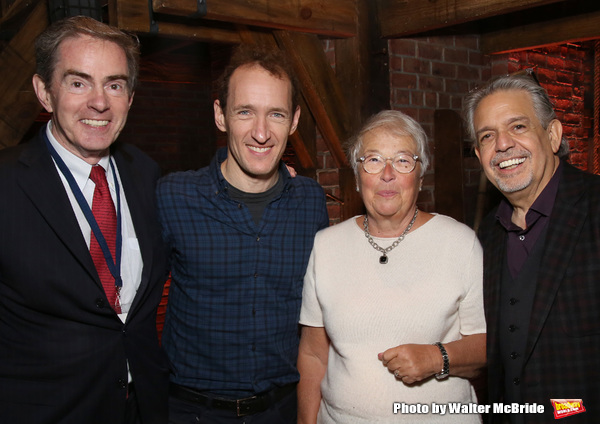 President of the Gilder Lehrman Institute, James Basker, producer Jeffrey Seller and Luis Miranda