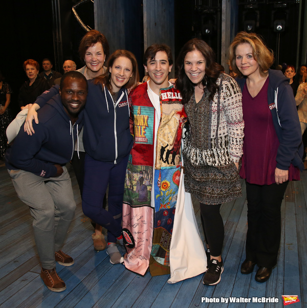 Jess Leprotto with Joshua Henry, Margaret Colin, Jessie Mueller, Lindsay Mendez and Renee Fleming