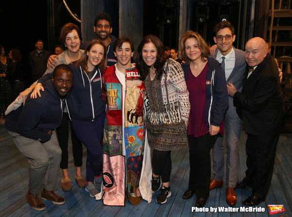 Jess Leprotto with Joshua Henry, Margaret Colin, Jessie Mueller, Amar Ramasar, Lindsay Mendez, Renee Fleming, Justin Peck and Jack O'Brien
