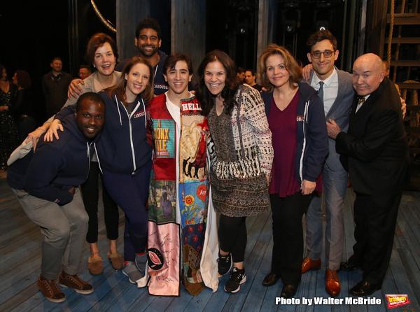 Jess Leprotto with Joshua Henry, Margaret Colin, Jessie Mueller, Amar Ramasar, Lindsa Photo