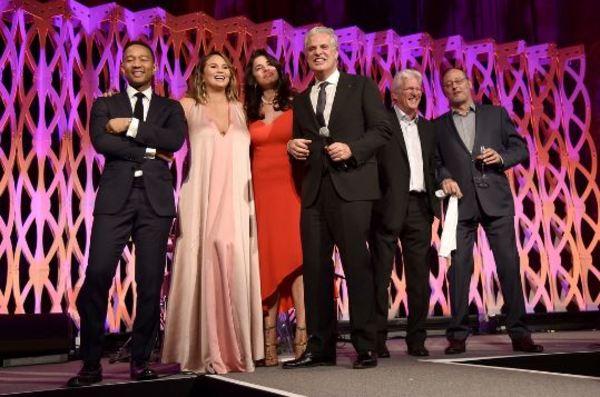 John Legend,  Chrissy Teigen, Richard Gere Photo