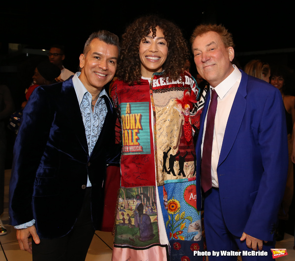 Afra Hines with Sergio Trujillo and Des McAnuff