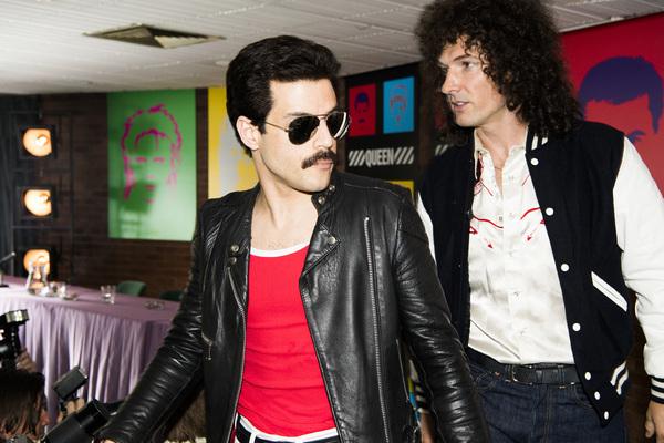 """DF-14964_R â€"""" Rami Malek (Freddie Mercury) and Gwilym Lee (Brian May) star in Twentieth Century Fox's BOHEMIAN RHAPSODY. Photo Credit: Alex Bailey."""