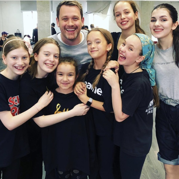 Michael Arden with Broadway Dreams Russia Students