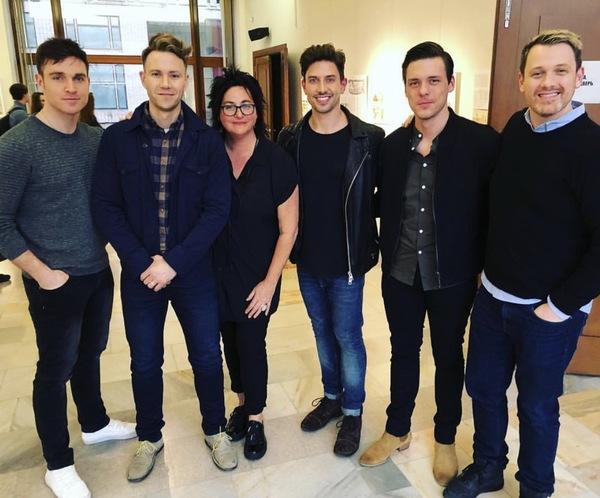 Tyler Hanes, Christopher J. Hanke, Annette Tanner, Nick Adams, Jordan Andre, and Mich Photo