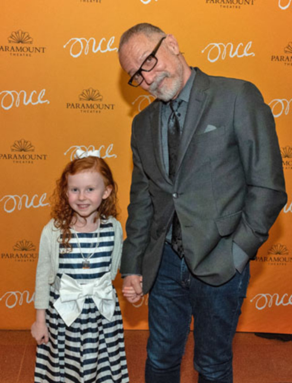 Everleigh Murphy (Ivonka) with Paramount Theatre Artistic Director Jim Corti, director of Once