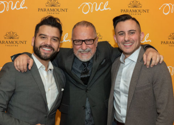 (From left) Choreographer William Carlos Angulo, director Jim Corti, and music director Tom Vendafreddo