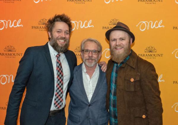 Matt Kahler (ensemble), Larry Tobias (Da) and Jon Patrick Penick (Billy)  Photo