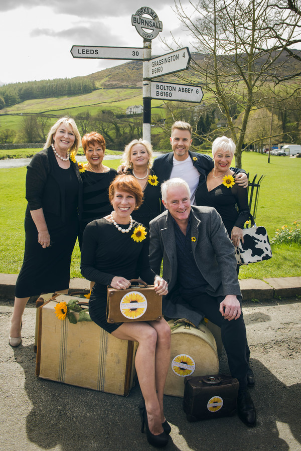 Fern Britton, Ruth Madoc, Rebecca Storm, Gary Barlow, Denise Welch_ Front Anna-Jane Casey & Tim Firth