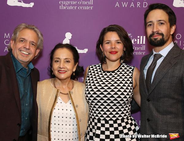Luis Miranda, Dr. Luz Miranda, Vanessa Nadal, and Lin-Manuel Miranda  Photo