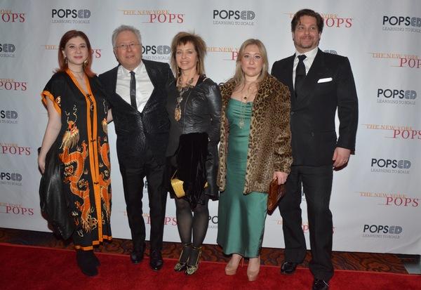 Alan Menken and family