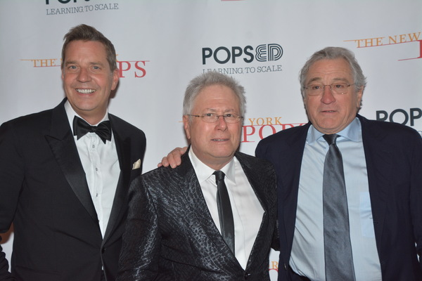 Steven Reineke, Alan Menken and Robert De Niro Photo