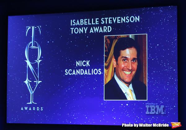 Isabelle Stevenson Tony Award to Nick Scandalios  Photo