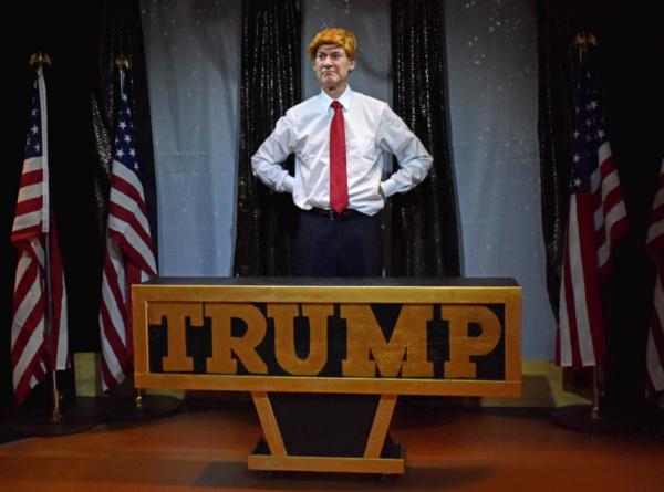 Ezra Barnes as Donald Trump. Photo by Francis Krow.