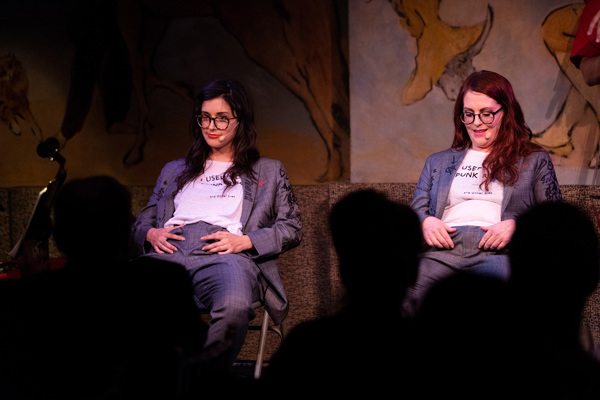 Megan Mullally and Stephanie Hunt