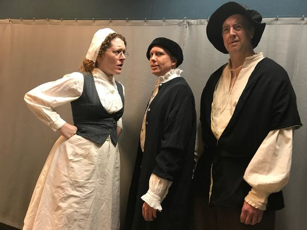 Sarah Kiefer as Mistress Bull, Brady Adair as Ingram Frizer and Len Rella as Nicholas Skeres