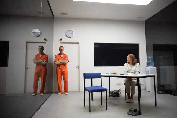 Photo Flash: First Look at BUILDING THE WALL at Park Theatre
