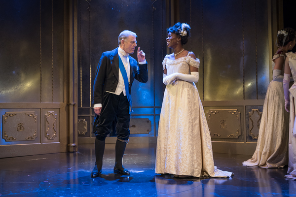 Faith Omole as Mabel Chiltern, Edward Fox as Lord Caversham Photo