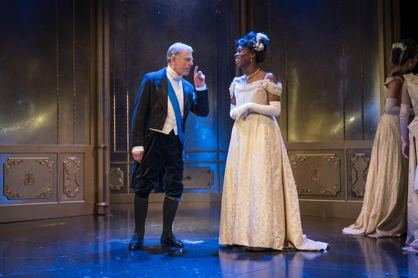 Faith Omole as Mabel Chiltern, Edward Fox as Lord Caversham