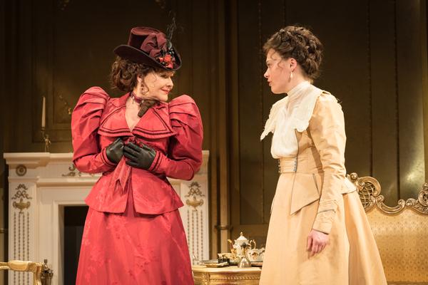 Sally Bretton as Lady Chiltern, Frances Barber as Mrs Cheveley