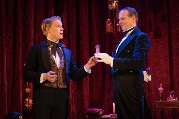 Freddie Fox as Lord Goring, Tim Wallers as Phipps
