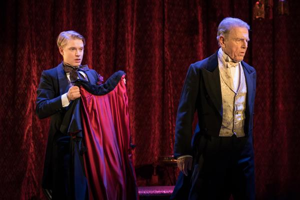 Freddie Fox as Lord Goring, Edward Fox as Lord Caversham
