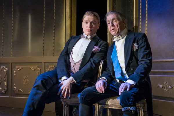 Edward Fox as Lord Caversham, Freddie Fox as Lord Goring Photo