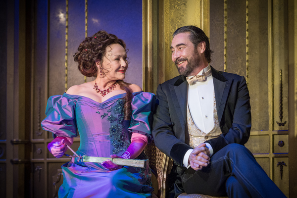 Frances Barber as Mrs Cheveley, Nathaniel Parker as Lord Chiltern