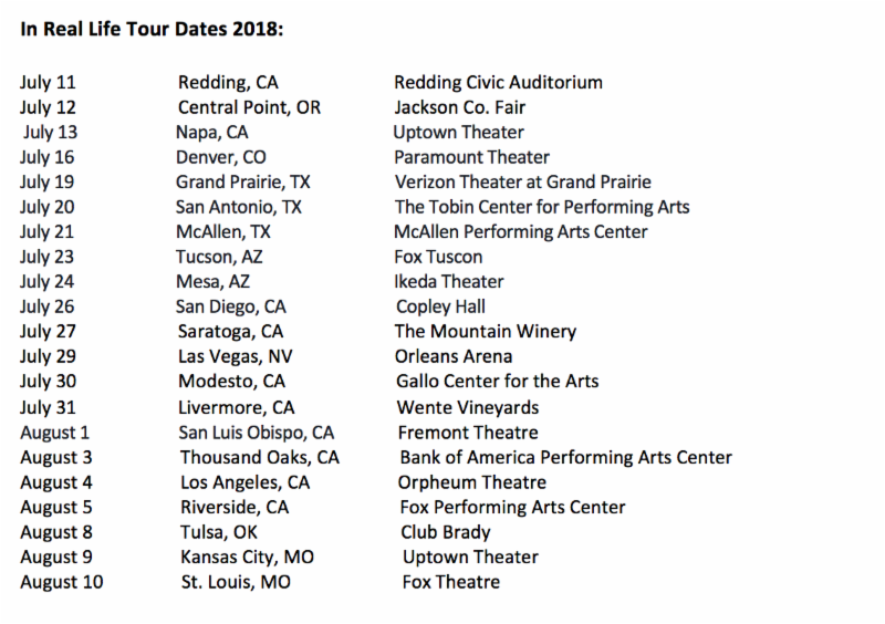 In Real Life Announces Tour Dates on American Idol Live! 2018