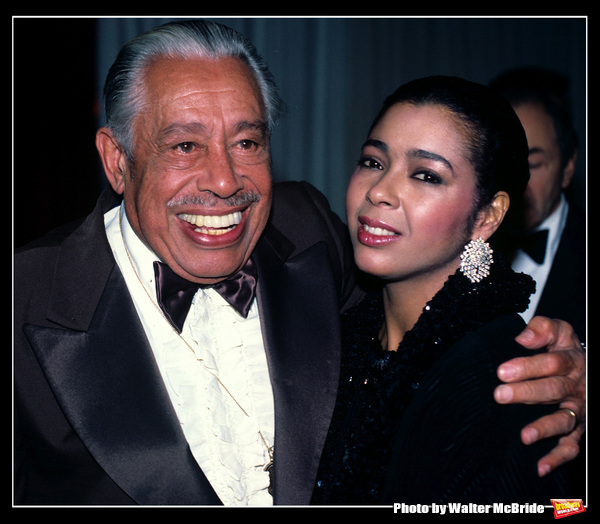 Irene Cara and Cab Calloway attend attend the American Image Awards at Sheraton Hotel in New York City, 1984.