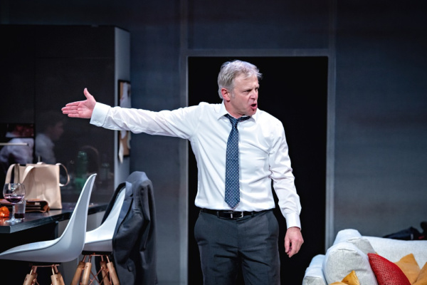 Jonathan Guy Lewis as a politician in crisis in his new play THE BE ALL AND END ALL at York Theatre Royal from 4-19 May.      Photo: Anthony Robling