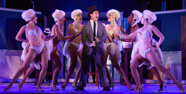 James LaRosa as Leo Bloom with girls from L to R: April Berry, Emily Bainbridge, Alyssa Elrod, Kellyanna Polk, Alicia Thomas, Courtney McLaren