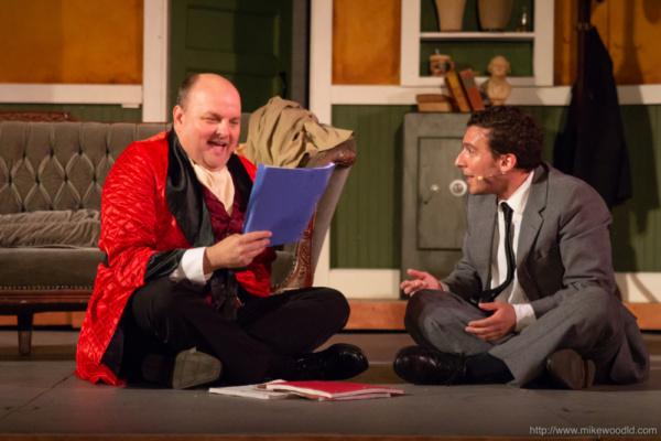 Matthew McGee as Max Bialystock and James LaRosa as Leo Bloom Photo
