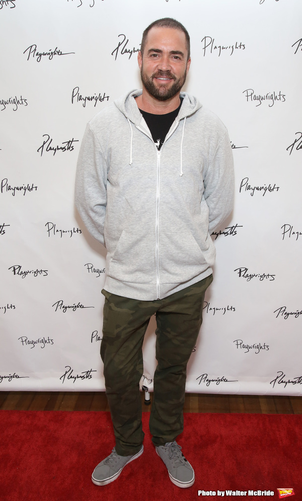 Photo Coverage: Jesse Tyler Ferguson & the Company of Playwrights Horizons' LOG CABIN Meet the Press