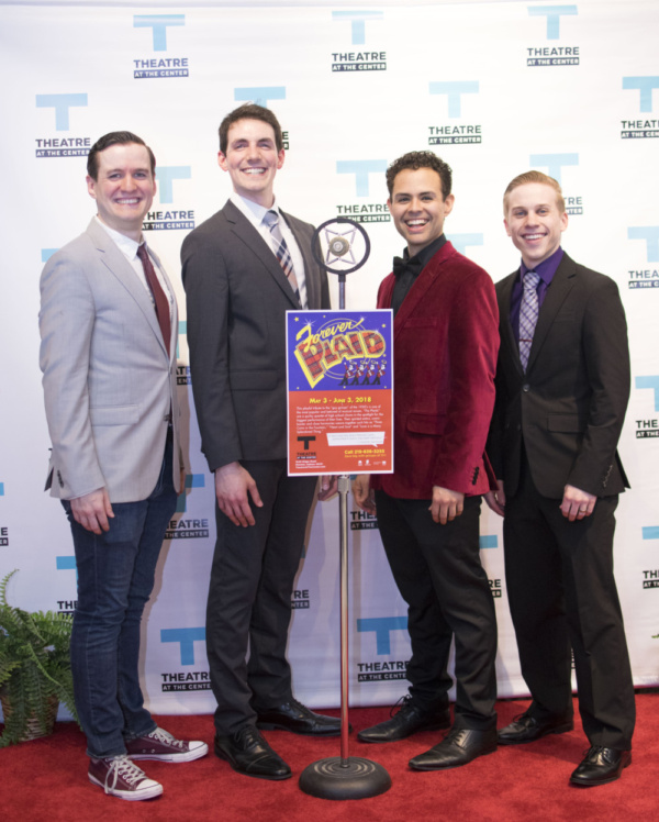 Cast members Matt Edmonds, and Adam LaSalle, Yando Lopez and Christopher Ratliff at the Opening Night of Forever Plaid at Theatre at the Center in Munster.
