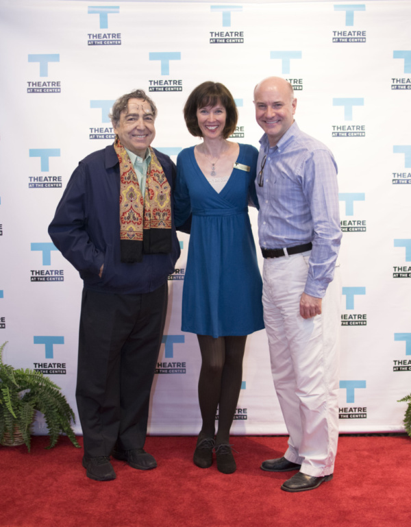 TATC Artistic Director Linda Fortunato with former TATC Artistic Directors Michael Weber and William Pullinsi at the Opening Night of Forever Plaid at Theatre at the Center in Munster.