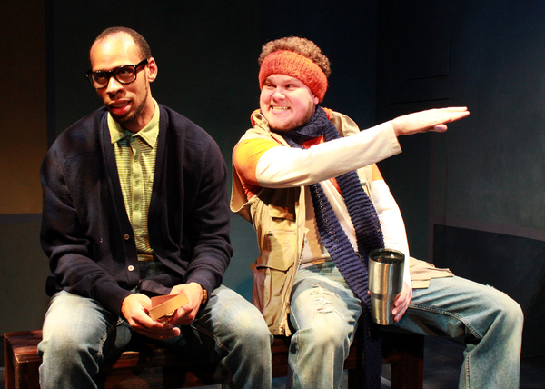 Ahmed T. Brooks as Khalil and Jonathan Fisher as Owen Photo